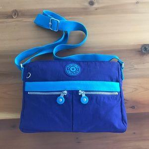 KIPLING Cross Body Bag Purse Purple Turquoise
